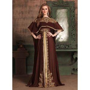 Brown color Kaftan-Georgette Kaftan