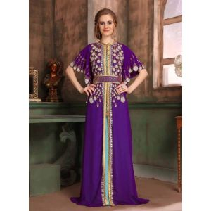 Purple and Blue color Kaftan-Georgette Kaftan