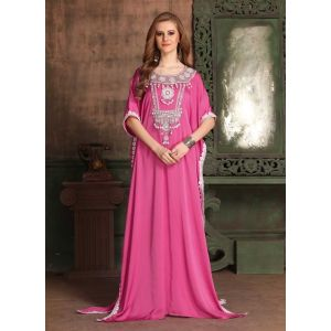 Pink color Kaftan-Satin Kaftan