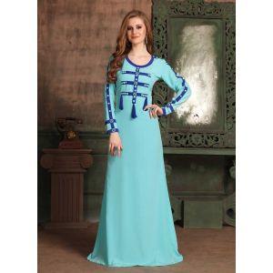 Blue color Kaftan-Crepe Kaftan