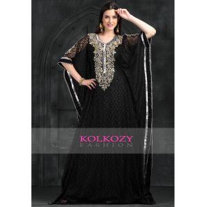 Black color Kaftan Partywear Georgette Kaftan