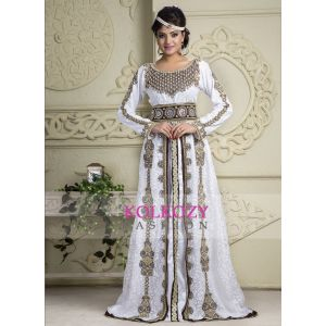Coffee and White Contemporary Classy Modern Weddings Kaftan