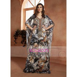 Kaftan Saudi Arabic style Multi Color Handmade Free Size Kaftan