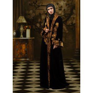 Embroidered  Work Formal Abaya Black Color