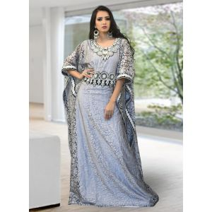 Trendy Gray Color Kaftan
