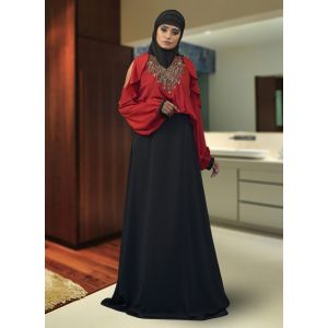 Maxi Black Abaya Dress