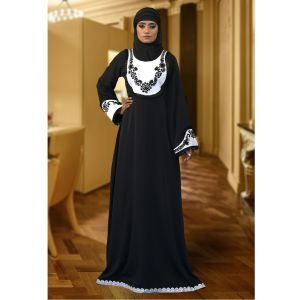 Formal Abaya White Color Maxi Dress