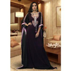 Modest Muslim Evening Black Color Kaftan