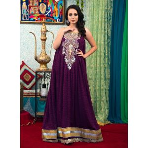Violet Color Long Party Wear Dress