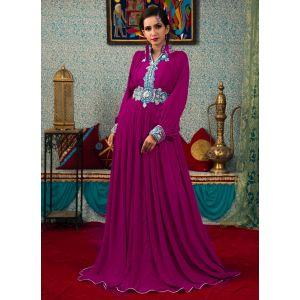 Purple Color Evening Party Kaftan