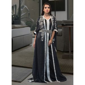 Dark Gray and Black Color Evening Party Dresses