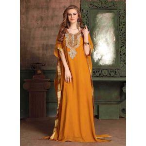 Orange color Kaftan-Georgette Kaftan
