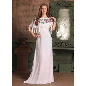 White color Kaftan-Rayon Kaftan