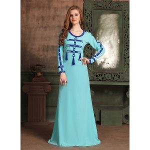 Blue color Kaftan-Crepe Kaftan