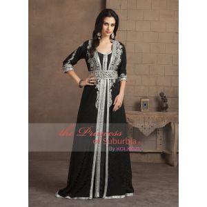 Takchita Black Color Designer Handmade Arabic Moroccan Style Caftan