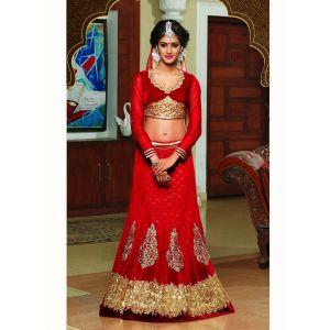 Red color Designer Lehnga Choli-Net Lehenga Choli