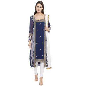Blue color Party Wear Rmd Salwar-Georgette Salwar Kameez