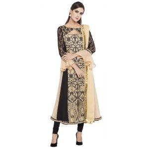 Beige color Party Wear Rmd Salwar-Georgette Salwar Kameez