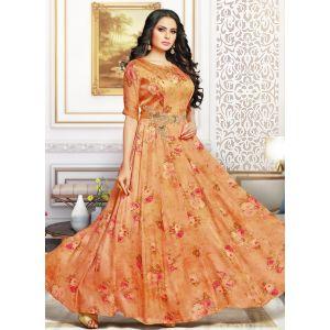 Orange color Designer Gown-Other Gown