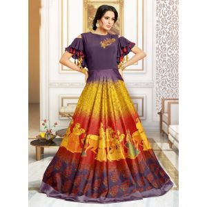 Multi color Designer Gown-Other Gown