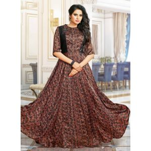 Brown color Designer Gown-Other Gown