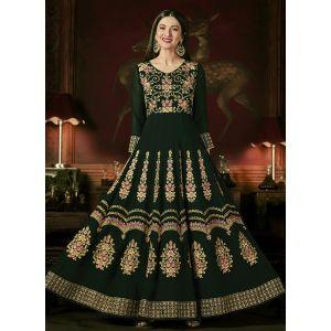 Green color Anarkali Suits-Georgette Salwar Kameez