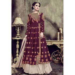 Women Ready Made Salwar Kameez Maroon color_FINAL SALE