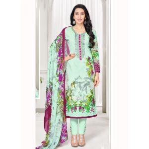 Multicoloured color Casual Salwar Kameez-Cotton Salwar Kameez
