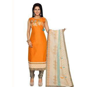 Orange color Party Wear Rmd Salwar-Cotton Salwar Kameez