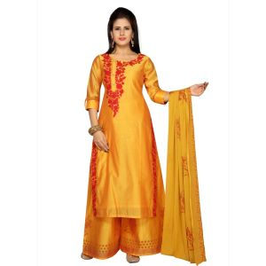 Orange color Party Wear Rmd Salwar-Other Salwar Kameez
