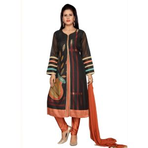 Black color Party Wear Rmd Salwar-Silk Salwar Kameez
