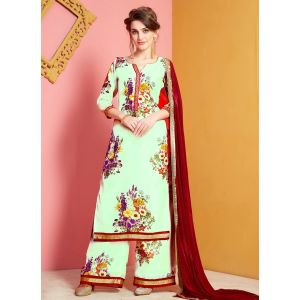 Green color Plazzo Wear-Other Salwar Kameez