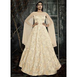 Women Gown Beige color Designer