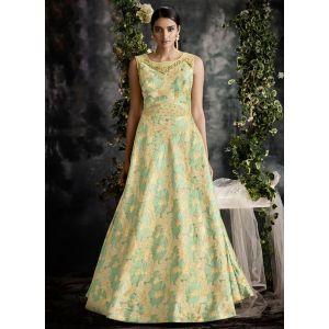 Women Gown Green color Designer
