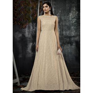 Women Gown Gold color Designer