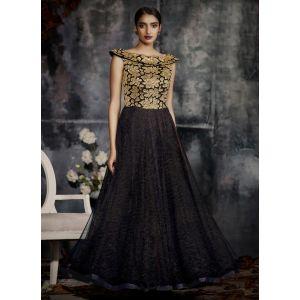 Women Gown Black color Designer