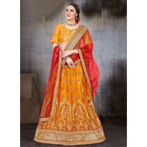 Women Lehnga Choli Yellow color Designer
