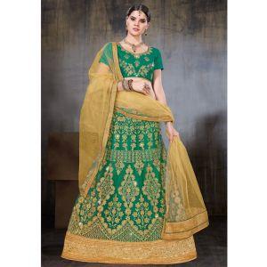 Women Lehnga Choli Green color Designer
