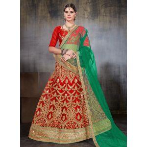 Women Lehnga Choli Red color Designer
