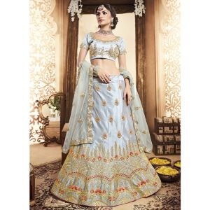 Women Lehenga Choli Grey color Designer