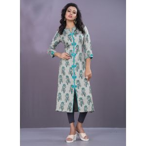 Women Ready Made Kurti Grey color