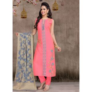Women Ready Made Salwar Pink color Party Wear