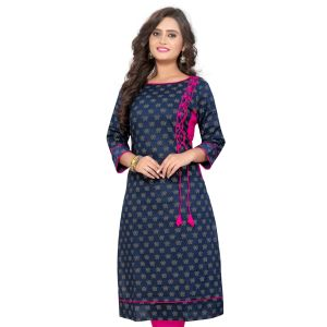 Women Ready Made Kurti Blue Color Formal