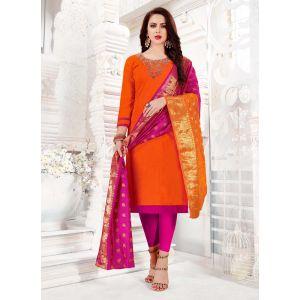 Ravishing Orange Trendy Salwar Kameez