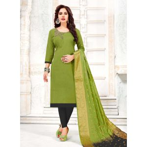 Captivating Green Straight Suits Salwar