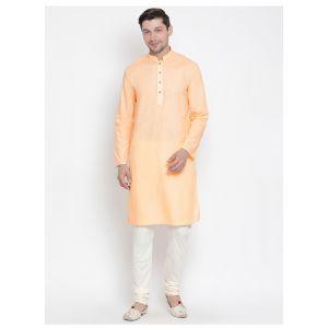Readymade Fawn Color Jacket Kurta Payjama Set