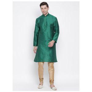 Readymade Bottol Green Color Jacket Kurta Payjama Set