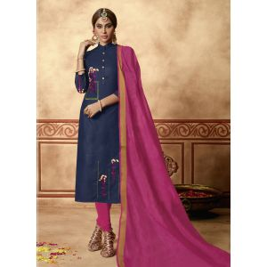 Unique Blue Party Wear Salwar Kameez