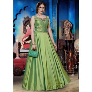 Tranquil Kelly Green Designer Gown