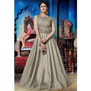 Glamorous Harbor Grey Designer Gown
